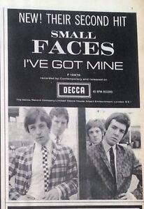 SMALL FACES  I Got Mine 1965 mini UK Press ADVERT 6x4 inches