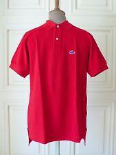Sin Uso De Colección Izod Lacoste 100% Algodón Camisa Polo Piqué Rojo Grand patrono XL/Estados Unidos menta
