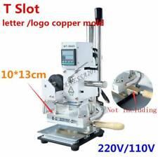 T slot Hot Foil Stamping Machine 10*13cm LOGO PVC Paper Embossing Bronzing DIY
