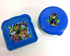 NEW Zak! PAW PATROL 2Pc Lunch Box Set Sandwich Snack Chip Fruit Container Blue
