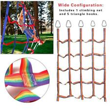 Outdoor Rainbow Ribbon Net Physical Training Climbing Net for Child  Daily Sport