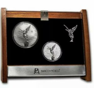 2020 Mexico Libertad 2-Coin Silver 2 oz & 5 oz Reverse Proof Set Minted 250