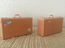 Vintage Miniature 2 Samosonite Pieces of Luggage Possibly Barbie Size Measuremen