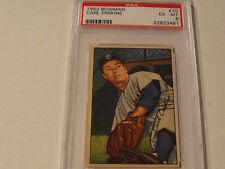 1952 BOWMAN #70 CARL ERSKINE Brooklyn Dodgers - PSA 6 EX-MT - Rare High Grade!
