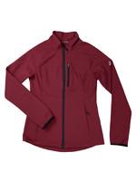 ASICS Womens Soft Shell Training Running Jacket Maroon New