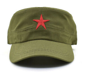 Details about  New Communist Cap Red Star Army Che Guevara Cuba Stars Military T