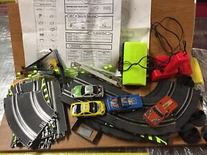 Artin Slot Car Track Racing Set Pieces Assortment Lot Controllers (Racing Rivals