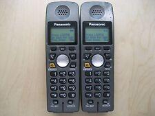 Lot of 2 Panasonic Kx-Tga600B 5.8 Ghz Cordless Expansion Handset Phone