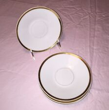 "Royal Jackson Fine China Set of 4 5-3/4"" Saucers, Great Shape!"