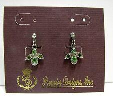 Vintage Premier Designs Earrings Rhinestone Drop Dangle Pierced NEW