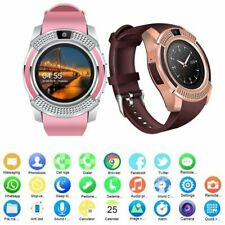 Men Women Bluetooth Smart Watch Wrist Phone Mate Touch Screen for IOS Android