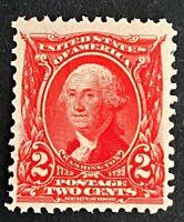 US Stamps, Scott #301 2c George Washington 1903 VF M/NH.  PO Fresh