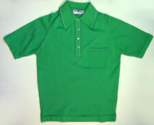 MCGREGOR MIRACLE GREEN POLYESTER POLO SHIRT GOODFELLAS  SIZE MED 1970'S