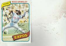 FREE SHIPPING-MINT-1980 Topps #375 Ross Grimsley Montreal Expos