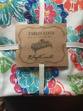 APRIL CORNELL Tablecloth SPRING FLORAL RECTANGLE - 60 X 104 New