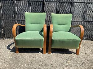 pair Of jindrich halabala chairs art deco,mid century,retro,vintage