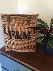 Fortnum And Mason Hamper Wicker Basket Wine Storage Large brown