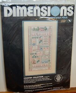 """Country Collection"" Counted Cross Stitch Picture Kit Dimension NEW 3602"