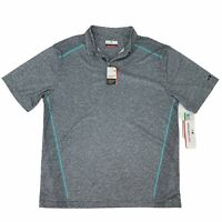 Grandslam Polo Shirt Men Size L Gray Short Sleeve Motion Flow Athletic Quick Dry