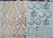 Kanban Christmas Tree Toppers  and Tiffany Baubles 2 Sheets 30 elements in total