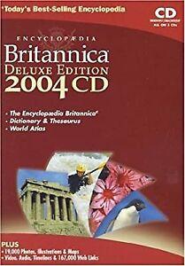 Encyclopedia Britannica 2004 Deluxe Edition CDROM (Encyclopaedia), , Used; Very