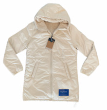 THE NORTH FACE (MERRIEWOOD) REVERSIBLE PARKA VINTAGE WHITE WOMENS SZ M NEW 🔥