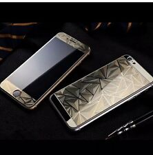 GOLD 3D Diamond Tempered Glass Front + Back Screen Protector For iPhone 6 plus
