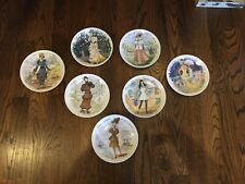 French Set of 7 Women of the Century Henri D' Arceau Limoges Plates Excellent