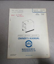 heavy equipment manuals books for miller welder for sale ebay rh ebay com miller 250 welder service manual miller welding service manuals