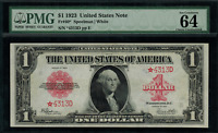 "1923 $1 Legal Tender FR-40 - Red Seal ""STAR NOTE"" - Graded PMG 64 EPQ"