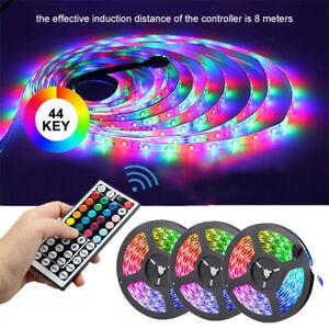 49FT 15M 3528 RGB LED Strip Light Remote Control Non-Waterproof Flexible Lamp