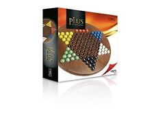 Cayro Plus Wooden Chines Checkers Game with Glass Marbles by Cayro
