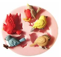 3D Birds Silicone Fondant Cake Molds Chocolate Mould Kitchen Candy Baking Tools