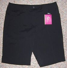 EDWIN WATTS E WHITLEY Black Long Bermuda Modern Rise Golf Shorts Size 12 NWT