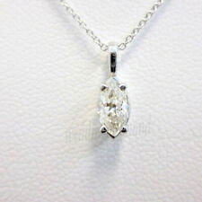 Marquise Pendant 1.58 Ct Off White Moissanite 925 Sterling Silver