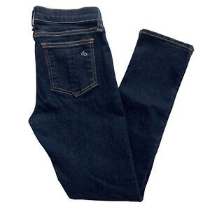 Rag & Bone Mid Rise Skinny Capri Jeans in Heritage Wash Size 26