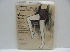 TREADWELL VINTAGE SANDAL FOOT BRIEF CONTROL BROWN IRREGULAR PANTYHOSE!