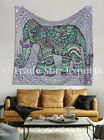 Good Luck Tapestry Wall Hanging Cotton Elephant Bedspread Ethnic Wall Decor Art
