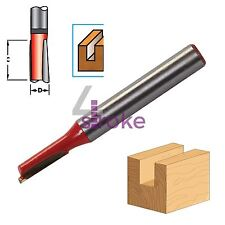 "1/4"" Shank Straight Metric Router Bits TCT Cutter Woodwork 12mm x 5mm Diameter"