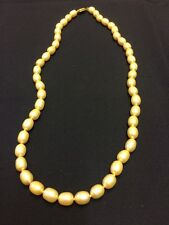 16 inch Freshwater White Pearl String with 14 ct Gold Fastenings