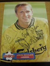 90-2000's Autographed Magazine Picture A4: Liverpool - Scales, John. We try and