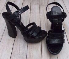 Casadei Serpiente Cuero Sandalias de plataforma > BNWB > Genuino > £ 570+ > 37 - 4uk Negro Zapatos > > >
