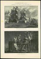 1888 - Antique Print SPANISH AMADA TERCENTENARY English Channel Beacons (289)