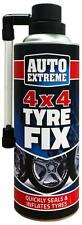 XL 4X4 QUICK FIX CAR EMERGENCY FLAT TYRE INFLATE PUNCTURE REPAIR KIT 450ML