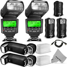 Altura Photo® Studio Pro Flash Kit for CANON DSLR Bundle with 2pcs E-TTL Flash