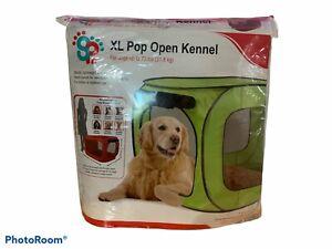 Sport Pet Designs Green Pop Open Dog Kennel Sz. XL Dogs Up To 70 lbs NIP