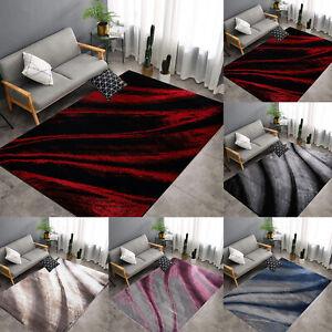 Modern Wave Pattern Area Rugs Large Living Room Bedroom Floor Carpet Runner Mats