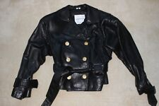 Andrew Marc vintage ladies black leather jacket s/p excellent condition 100.00