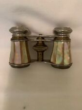 LA VILLE OPERA GLASSES - ANTIQUE MOTHER OF PEARL, PARIS, FRANCE, W/CASE