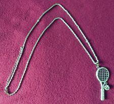 BELLE RAQUETTE DE TENNIS & BALLE Réglable Collier-un beau cadeau, Seulement £ 7.95p!